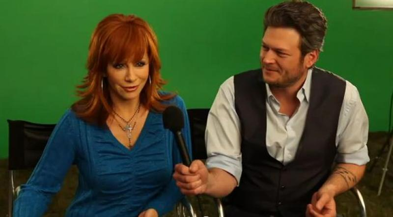 Behind the Scenes with Reba & Blake! CBS Promo Shoot for the 2012 ACM Awards